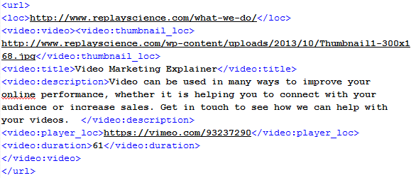 Video XML