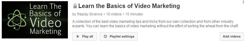 learn video marketing playlist