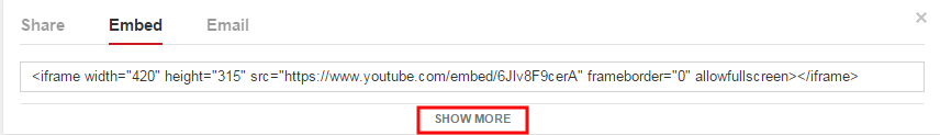 embed show more options
